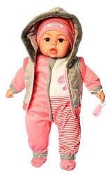 Детская музыкальная, говорящая мягкая кукла пупс с соской Limo Toy M 3514-1-1 UA