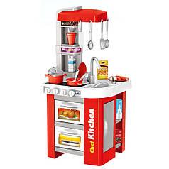Детская музыкальная кухня с водой 49 предметов Bambi 922-48А красная
