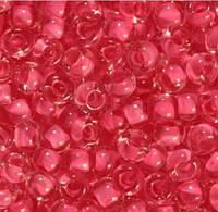 Бисер Preciosa Чехия №38398 50г, розовый прозрачный с внутренней окраской