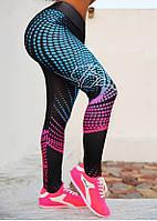 Леггинсы тренировочные для фитнеса с высокой талией, фото 1