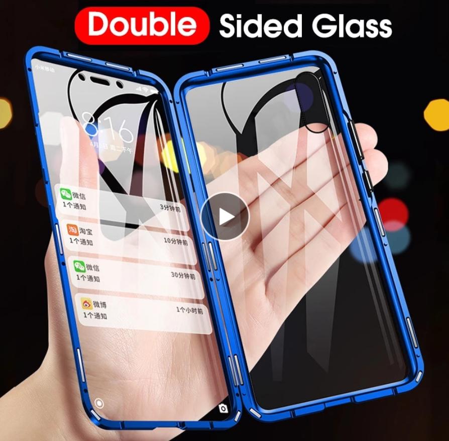Магнитный металл чехол FULL GLASS 360° для Xiaomi Redmi 9A