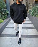 😜 Свитер - Мужской свитер черный оверсайз, фото 2