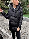 Качественная женская теплая куртка! Утеплена силиконом-250. Размеры: С,М,L, фото 3