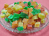Ананас кубики цукати сушені  кольорові 300 г, фото 4