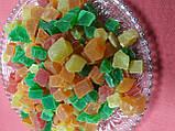 Ананас кубики цукати сушені  кольорові 300 г, фото 7