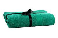 Набір рушник EURO SET Dark Green зелений 70*135 1шт. 500г/м2
