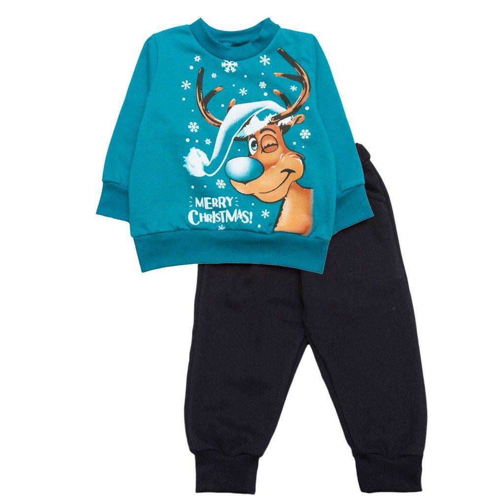 Костюм для мальчика штаны и кофта Новогодний