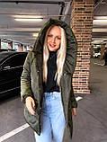 Качественная женская теплая куртка! Утеплена силиконом-250. Размеры: С,М,L, фото 4