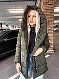 Качественная женская теплая куртка! Утеплена силиконом-250. Размеры: С,М,L, фото 5