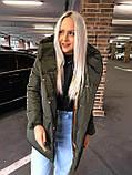 Качественная женская теплая куртка! Утеплена силиконом-250. Размеры: С,М,L, фото 7