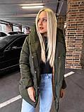 Качественная женская теплая куртка! Утеплена силиконом-250. Размеры: С,М,L, фото 8