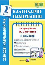 Календарне планування НУШ за програмою О. Я. Савченко 2 клас ІІ семестр 2020-2021 н.р. Жаркова І. Підручники і