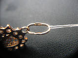 Золотой Кулон Сердце с орнаментом и фианитами 1.36 грамма Золото 585 пробы, фото 8