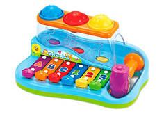 "Детская музыкальная игрушка ксилофон-стучалка ""Бряк-звяк"" Limo Toy 9199/856"
