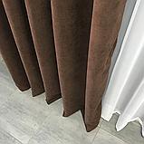 Комплект штор Petek на люверсах   Штори на люверсах   Шторы с подхватами   Темно-коричневые шторы  , фото 6