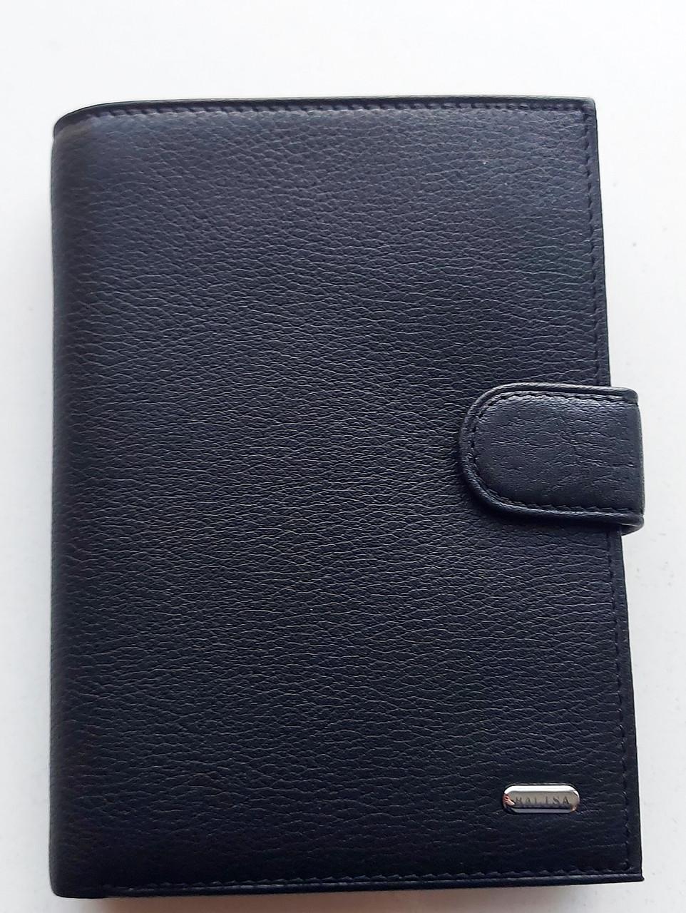 Мужское кожаное портмоне BA 9-14 black, купить мужское портмоне Balisa недорого в Украине
