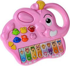 Игра Пианино Joy Toy 7252 розовый слон