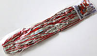 Дождик резаный новогодний 15 шт, серебристо-красный