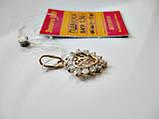 Золотой Кулон Сердце с орнаментом и фианитами 1.36 грамма Золото 585 пробы, фото 3