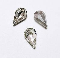 Стразы кристаллы Капля 8*13мм прозрачные  стекло (цена за 5шт.), фото 1