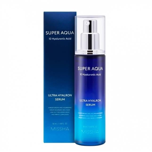 Missha Super Aqua Ultra Hyalron Serum Увлажняющая сыворотка, 50 мл
