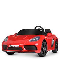 Детский подростковый электромобиль Bambi M4055 Porsche Cayman 15.5 км/ч 180 Вт двухместный красный Порш Кайман