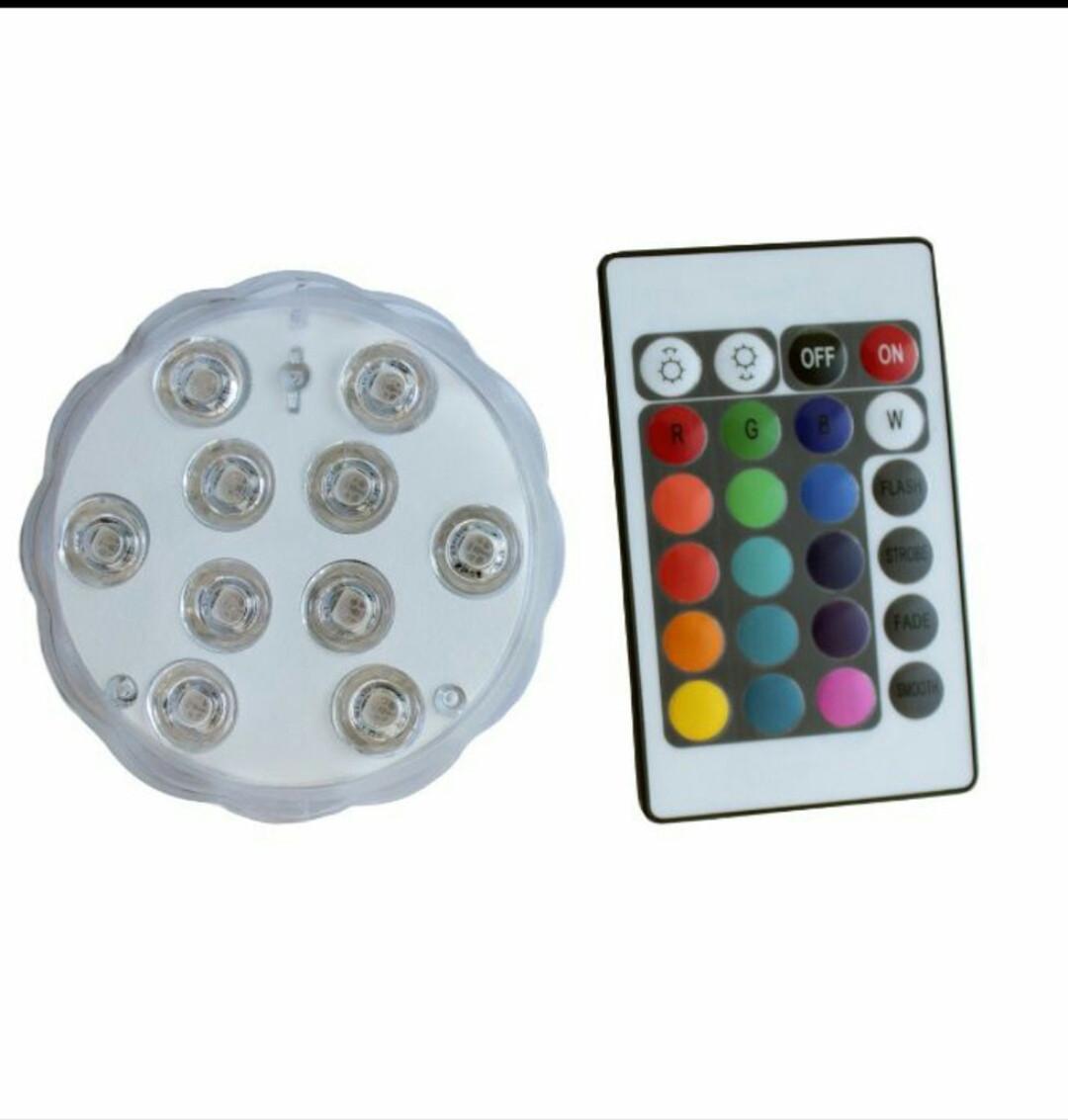 Светодиодные RGB подсветка для аквариумов, фонтанов, водоемов, кальянов 10 LED с пультом