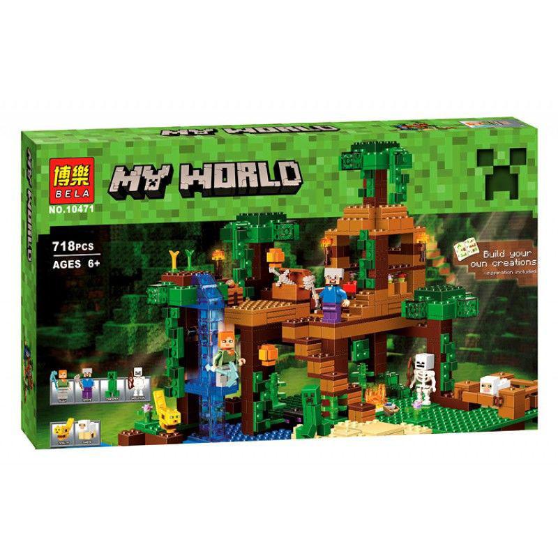 Конструктор Bela 10471 домик на дереве в джунглях Minecraft