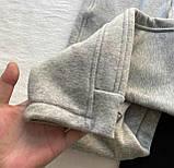 Топовые спортивные штаны женские Трехнить на флисе. Цвета:  черный, меланж  Размеры - 42-44, 44-46, фото 4