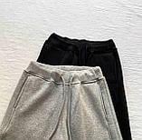 Топовые спортивные штаны женские Трехнить на флисе. Цвета:  черный, меланж  Размеры - 42-44, 44-46, фото 3