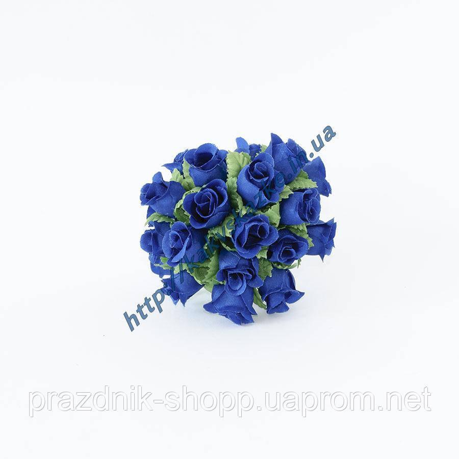 Розочка мини, синяя.