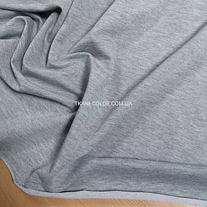 Футер двунитка светло-серый меланж, Турция, 180см