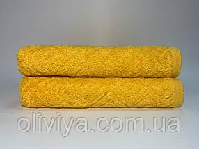Полотенца для лица махровое Жаккард желтое, фото 3