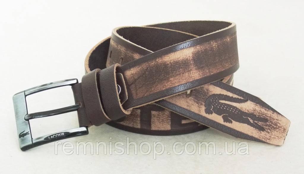 Мужской кожаный ремень Lacoste светло-коричневый  продажа, цена в ... 92b0a3e9803