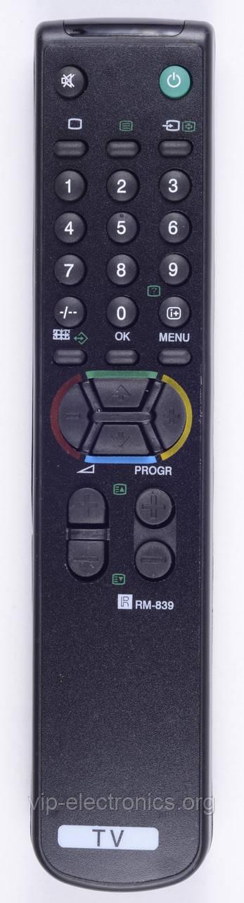 Пульт Sony  RM-839 (TV) з ТХТ як оригінал