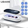 Ультрафиолетовый стерелизатор, дезинфектор портативный USAMS US-ZB151 с беспроводной зарядкой, белый, фото 6