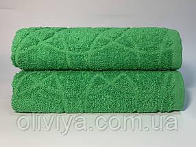 Полотенца для лица махровое Жаккард зеленое, фото 3