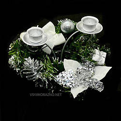 Двойной подсвечник новогодний / Подвійний свічник новорічний
