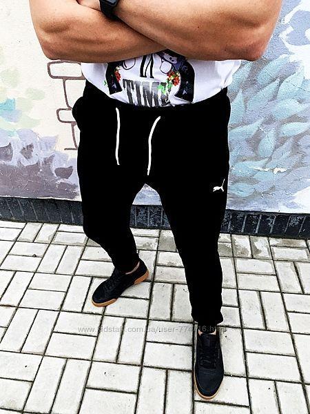 Спортивные мужские штаны флис puma