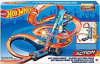 Трек Хот Вилс Небоскреб Падение с Башни Оригинал Hot Wheels Sky Crash Tower Track Set, 2.5+ ft / 83 cm (GWT39), фото 1