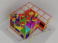 Детский игровой комплекс 4/3 с батутом, фото 1