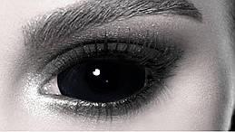 Чорні склеральні лінзи ELITE Lens «Блек XL» 22 мм.