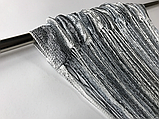 Штори серпанок з люрексов   Нитяні штори   Готові штори з люрексов   Якісні штори   Графіт-сіро-білі штори, фото 4