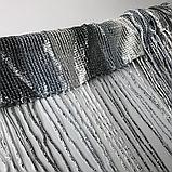 Штори серпанок з люрексов   Нитяні штори   Готові штори з люрексов   Якісні штори   Графіт-сіро-білі штори, фото 5