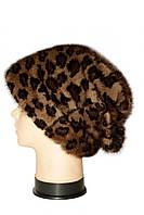 """Женская меховая шапка норковая, """"Стелла Веер"""" (леопард), фото 2"""