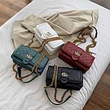 Женская классическая сумка кросс-боди на цепочке белая, фото 3