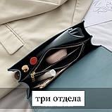 Женская классическая сумка кросс-боди на цепочке белая, фото 4