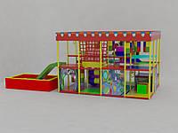 Детский игровой лабиринт 4/3 с наружной горкой
