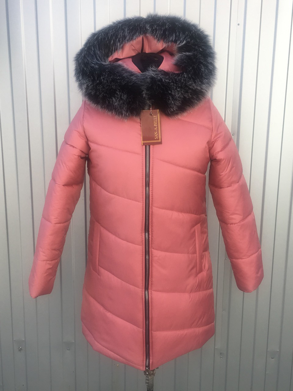 Куртка женская зимняя модель Полоска, размеры от 40 до 50