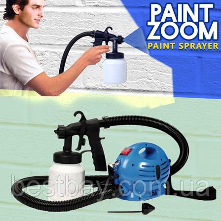 Краскораспылитель Профессиональный Paint Zoom (Пейнт зум), краскопульт электрический, распылитель краски, фото 2